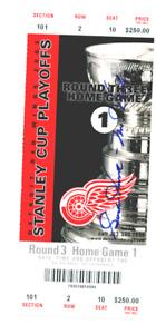 Autographed GORDIE HOWE 2003 Stanley Cup Playoffs Ticket