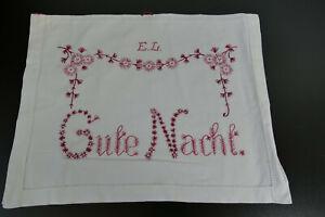 """Antiker  Wäschesack * Wäschebeutel * um 1890*  bestickt *"""" Gute Nacht """" EL"""
