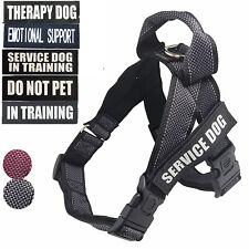 Service Dog Reflective Harness Nylon Vest Walk Strap Patch IN TRAINING EMOTIONAL