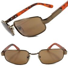 Rare Genuine Vintage 70s 80s Deadstock Rectangle Hip Hop Sunglasses Brown Frame