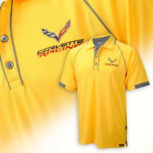 2014-2019 C7 Mens Hi Cool Polo Shirt with Corvette Racing Logo 637050