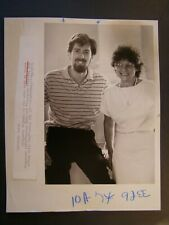 Glossy Press Photo 1984 Framingham Civic League Bob Pulster & Mary Jordan