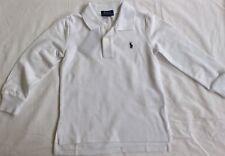 New Ralph Lauren Boys Long Sleeved Polo-Shirt 6 Years-White
