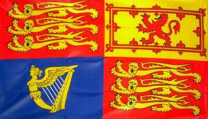 "ROYAL STANDARD FLAG 18""X12"" JUBILEE ELIZABETH II ROYALTY BOATS CARAVANS FLAGS"