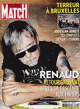 PARIS MATCH N°3488 - 2016 - RENAUD - RETOUR GAGNANT - MAG REVUE TBE