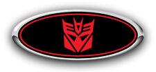 "F150 2008-2011 3PC Kit  Transformers ""Decepticon"" Overlay Emblem Decals B/R"
