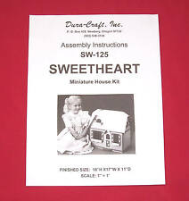 Dura-Craft  *SWEETHEART* SW-125  Dollhouse Instructions