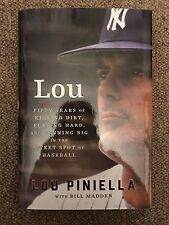 Lou Piniella PSA JSA Autographed Book New York Yankees