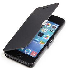 Apple iPhone 5C Hülle Tasche Slim Case Schutz Etui Cover Wallet schwarz