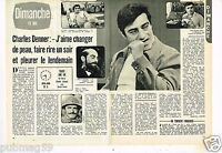 Coupure de presse Clipping 1977 (2 pages) Charles Denner