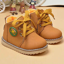 Winter Warm Army Martin Boots Toddler Baby Kids Boy Girl Leather Sneakers Shoes