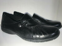 Cobb Hill Black Leather Shoes Size 8 Loafers PAULETTE Slip On by New Balance
