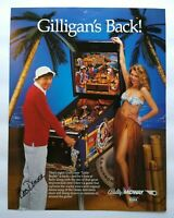 1982 BALLY VECTOR FACTORY ORIGINAL PINBALL 4 PAGE FLYER MINT