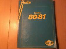 Hella Katalog von 1980 / 1981 mit Abbildungen  Katalog  für Oldtimer