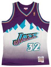 Rétro Karl Malone #32 Utah Jazz Throwback Swingman Basketball Maillot Jersey