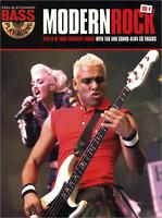 MODERN ROCK FOR BASS GUITAR TAB Sheet Music Book & CD Shop Soiled Cover