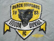 More details for black leopards fc, lidoda duvha, umbro, size s, short sleeve training shirt