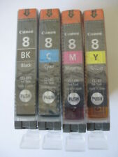 Genuine Canon CLI-8 Printer Ink Cartridge 8BK/8C/8M/8Y Black Cyan Magenta Yellow