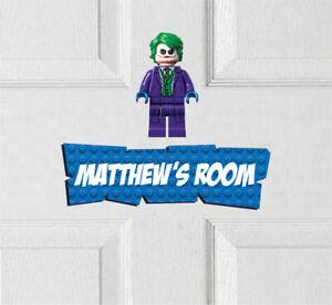 Personalised Joker Vinyl Door Sign Avengers Thor Superhero Spiderman