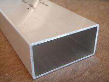 ALUMINIUM Rectangular Hollow Tube (RHS) 100x50x3.2mm 300mm LONG 6060-T5 Hobby