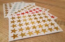 5 Sheets of Shiny Reward Gold Star Stickers school kids/teachers, crafts, charts