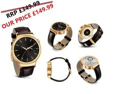 Brand New Huawei Watch W1 Elite Smartwatch Gold Plated with Brown Leather Strap