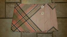 Abercrombie & Fitch Women's NWT Wool Blend Plaid Micro Mini Wrap Skirt Sz 0 3841