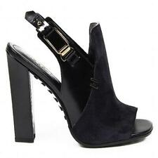 NEW Tod's Heeled Sandals Back Leather/Suede, Women Size 39 (9 US) $980 ITALY