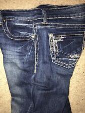 EUC Virgo DayTrip Denim Jeans Women Boot Cut Crystal Embellishments 29L X 32