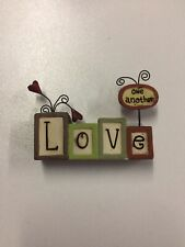 Love One Another Figurine Gift Country Home Decor Ornament NEW Blossom Bucket