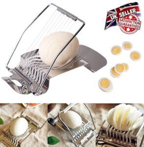 New Stainless Steel Boiled Egg Slicer Cutter Chopper
