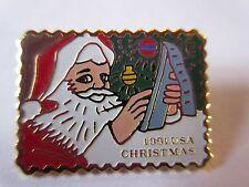 1991 29¢ Santa Writing List #2582 Stamp Pinback Postage Postal Mail USPS pin NEW