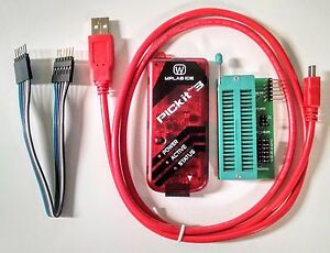 PICKit3 Microchip Programmer w/ USB cable, wires Pic Kit 3 and ICSP Socket
