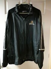 Nike Golf Mens Windbreaker Jacket  Black Full Zip Pockets Wright State NCAA XXL