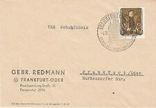 DDR MiNr. 588 EF, Geschäftsbrief Frankfurt/Oder, 1.12.1957