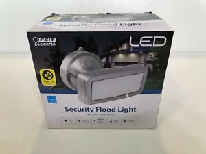 Feit Electric  LED Security Flood Light Stainless Steel Finish, New in Box