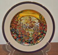 """""""A hollyhock Sunrise""""Stained Glass Gardens Collectible Plate"""