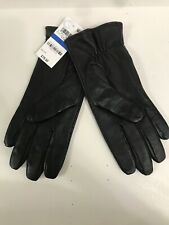 NEW Charter Club Women's Black Leather  Gloves Size XL