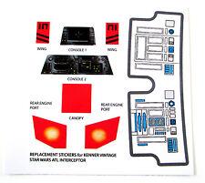 Kenner ALT INTERCEPTOR Vintage Star Wars replacement Sticker set +EXTRA