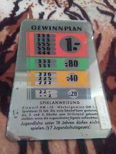 NSM Spielautomat Rotamint Super Gewinnplan 1958