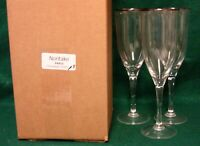 Noritake PARIS Champagne Flutes SET OF THREE Mint in BOX More Available