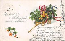 BG8784 clover mistletoe neujahr new year greetings germany