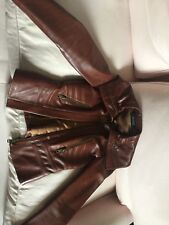 Gucci Ladies Leather Biker Jacket Coat OFFERS