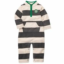 Boys Carter's Fleece Jumpsuit Coverall Onepiece 3M Stripes creme/gray NWT