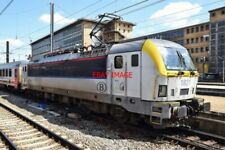 PHOTO  BELGIAN RAILWAYS -  VIEW 2 SNCB/NMBS SIEMENS CLASS 18 NO 1821 ARRIVING AT