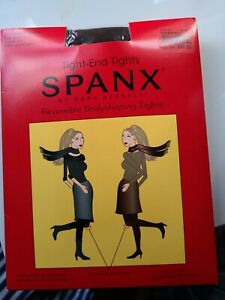 NIP Spanx Reversible Body-shaping Tight-End Tights Black-Brown Size C Opaque $32