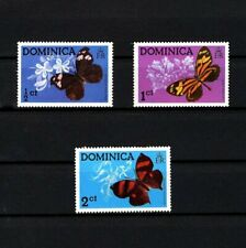 DOMINICA - 1975 - BUTTERFLIES - INSECTS -  LEAFWING - MILKWEED + 3X MNH SINGLES!