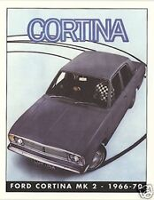 FORD CORTINA MK 2 (1966-70) Collectors CARTA Set - Lotus GT Crayford 1600E SUPER