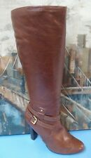 Audrey Brooke 'Delight' Knee High Brown Leather Boots sz 11M