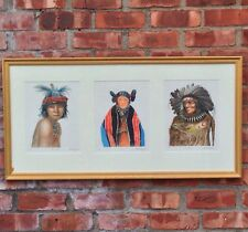 Three Limited Edition Allen Blagden Colored Etchings. Native Americans. Signed.
